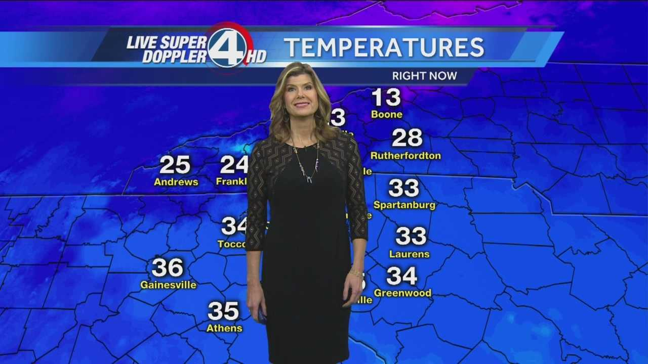 Partly Sunny afternoon. High  39 Upstate 36 WNC. Lows 24 to 29