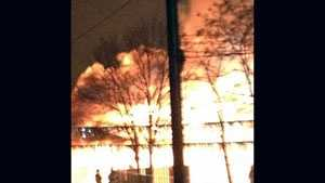 A uLocal user uploaded this photo from the scene of the fire.