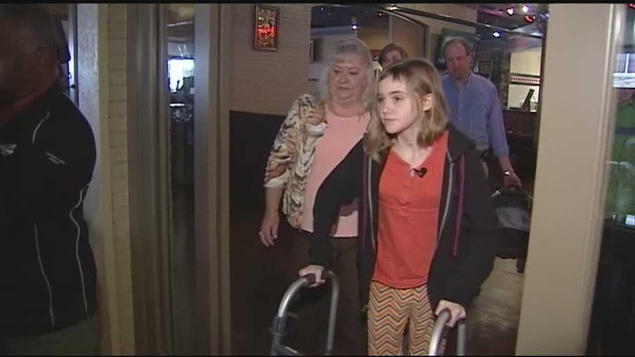 Injured child reunites with man who saved her life after crash