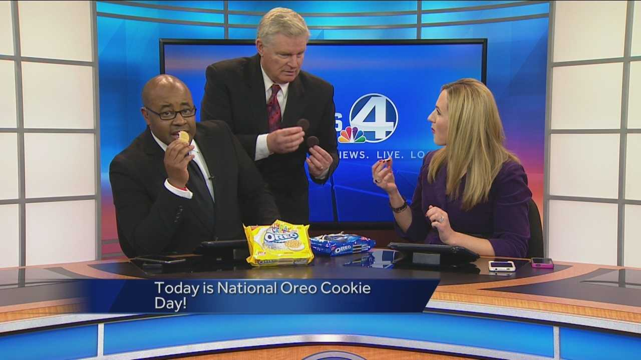 National Oreo Cookie Day has the entire crew excited.