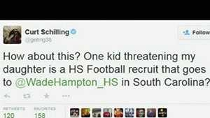 Baseball great Curt Schilling is hitting hard against bullies on the internet.