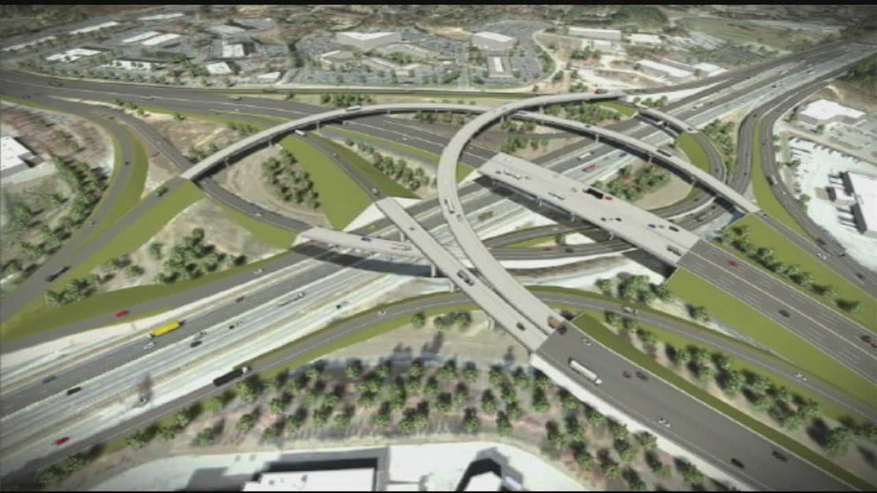 Construction on I-85, I-385 and Woodruff road aims to ease traffic.