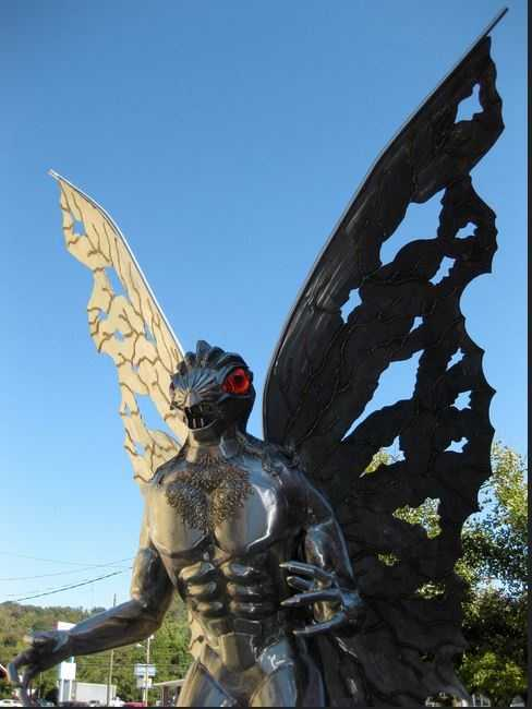 Author John Keel wrote a book about his own investigations into the 1966 and 1967 sightings of the so-called Mothman in Point Pleasant, West Virginia.  A statue in the town commemorates the legend.