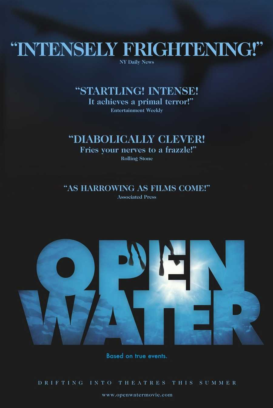 "The horror thriller ""Open Water"" was released in 2003."