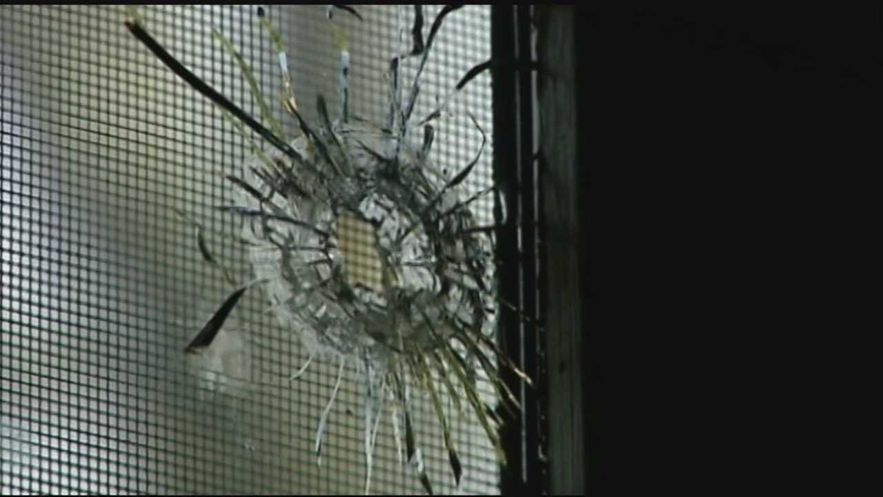 A Pendleton couple says a bullet went flying through their home, and landed near their son's crib.