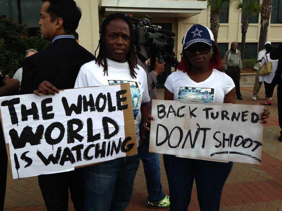 The organizationBlack Lives Matter held a rally after the shooting of Walter Scott.