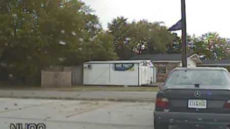 Still from dash camera footage of Walter Scott's traffic stop (Source: WCSC)