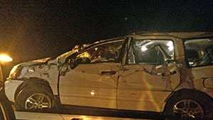 Just before 5 a.m., a tow truck removed the vehicle involved in the deadly wreck on I-26.