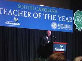 Former U.S. Secretary of Education Dick Riley spoke at the banquet.