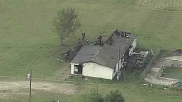 Four fire departments responded to a fire in Union County Monday morning, according to dispatchers.