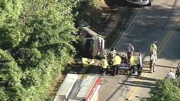 Donaldson Road in Greenville County was blocked Friday morning near Mayflower Road because of an accident.