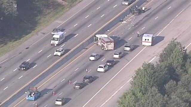 Two incidents caused major traffic troubles on Interstate 85 southbound Tuesday morning.