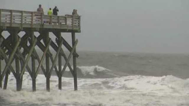 Knitting Up A Storm North Myrtle Beach : Tropical storm ana causes beach erosion