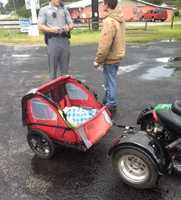Photo of the cart and moped after Allen and Cherry were pulled over by police. Source: HCPD