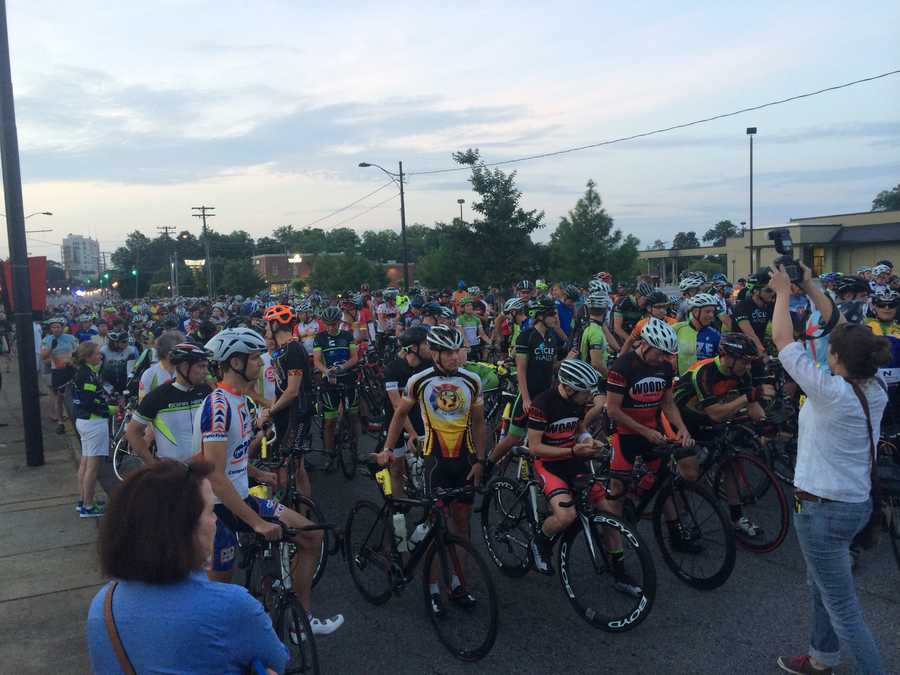 About 800 riders take part in the annual 102-miles ride.