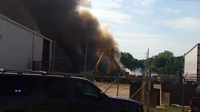 The coroner was called to the scene of a fire at a business in Anderson.