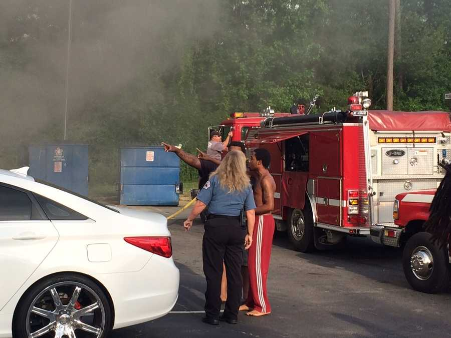 Anderson firefighters responded to an apartment fire Tuesday morning at the Huntington Apartments on Continental Street in Anderson.