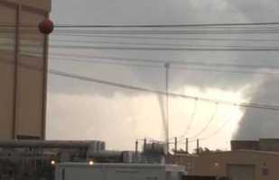 A waterspout formed on Lake Moultrie Tuesday afternoon giving some excitement to some nearby workers and vacationers.