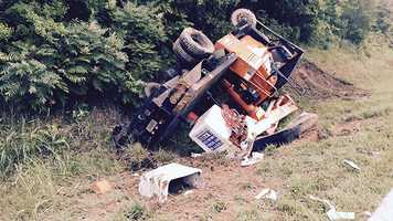 The wreck happened just after 8 a.m. at mile marker 24 in the southbound lanes of I-85.
