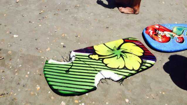 A picture of the girl's boogie board. (Source: Daniel Mason)