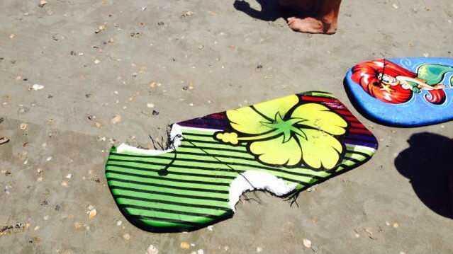A picture of the girl's boogie board. (Source: Daniel Mason)