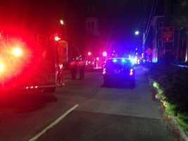 Emergency officials in downtown Charleston Wednesday night (Source: WCSC)