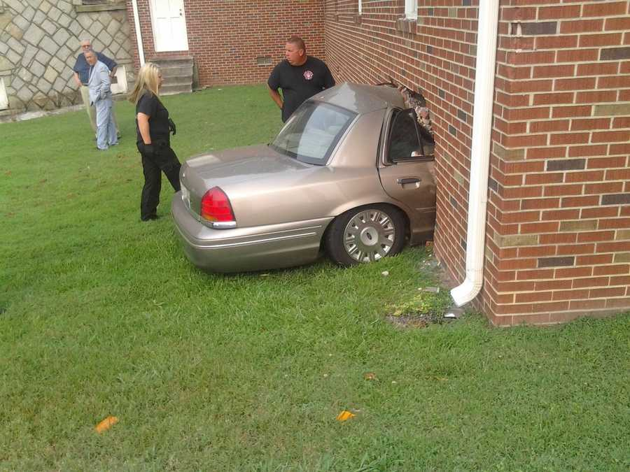A man was flown by Lifeflight after being rescued from a car that crashed into the side of a church in Anderson County Wednesday morning.