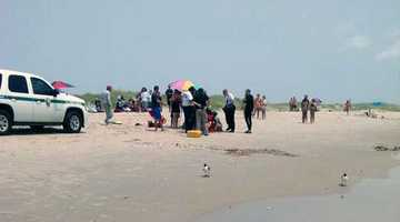 According to Hyde County officials, the man was swimming outside the first breaker, directly in front of the lifeguard stand when he encountered a grey shark, six to seven feet in length.