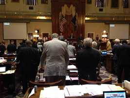 Lawmakers in the South Carolina State House paused for a moment of silence for those involved in the Berkeley Co. crash Tuesday.