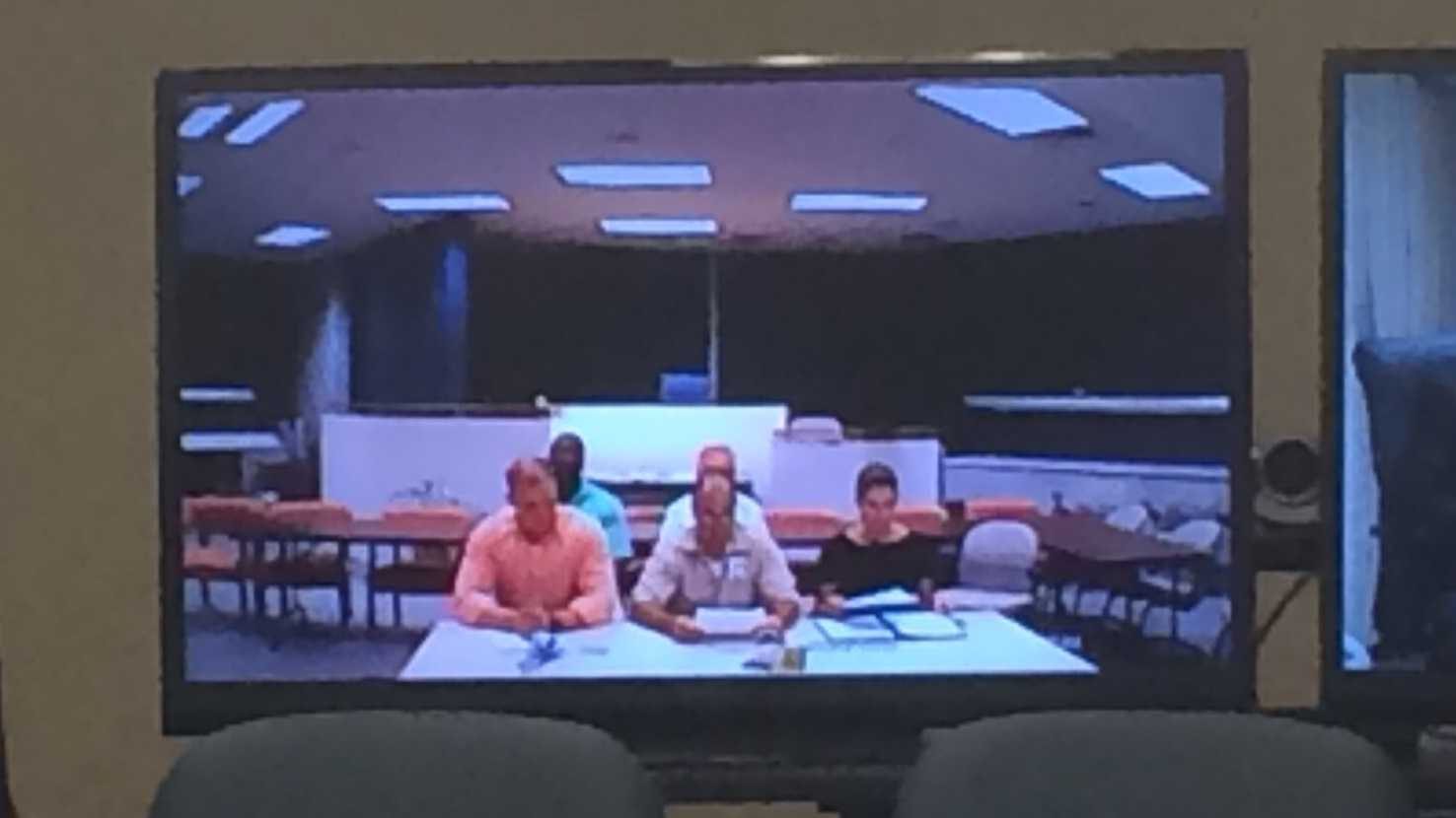 Sheppard appears via video conference to plead for an early release.