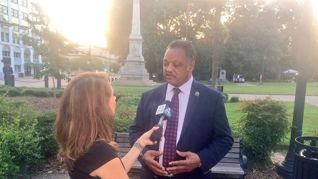Rev. Jesse Jackson talks one on one with WYFF News 4's Aly Myles.