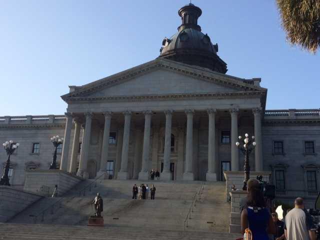 Gov. Haley at Statehouse Friday morning.