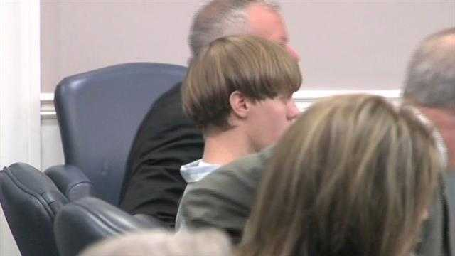 Dylann Roof appears in court