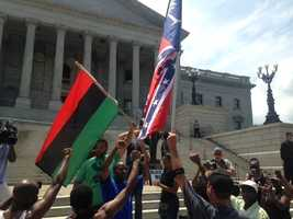 Black Educators for Justice continue to rally at Statehouse grounds