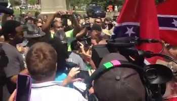White Supremacists chant White Power