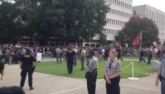 Klan leaves the rally