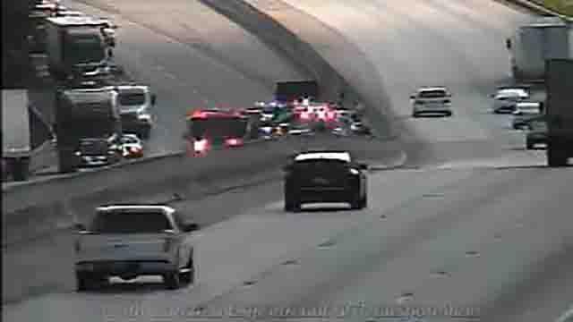 Crash on I-85 at mile marker 23