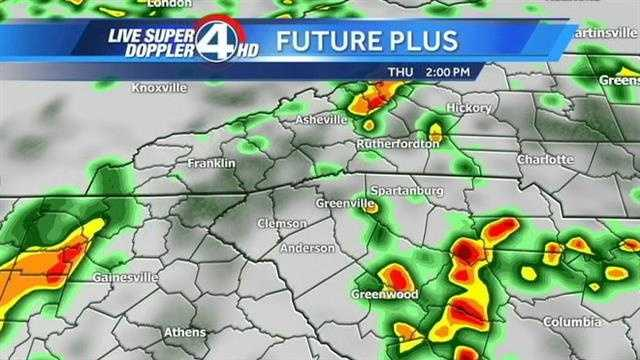 A look at Futurecast radar for Thursday through Friday.