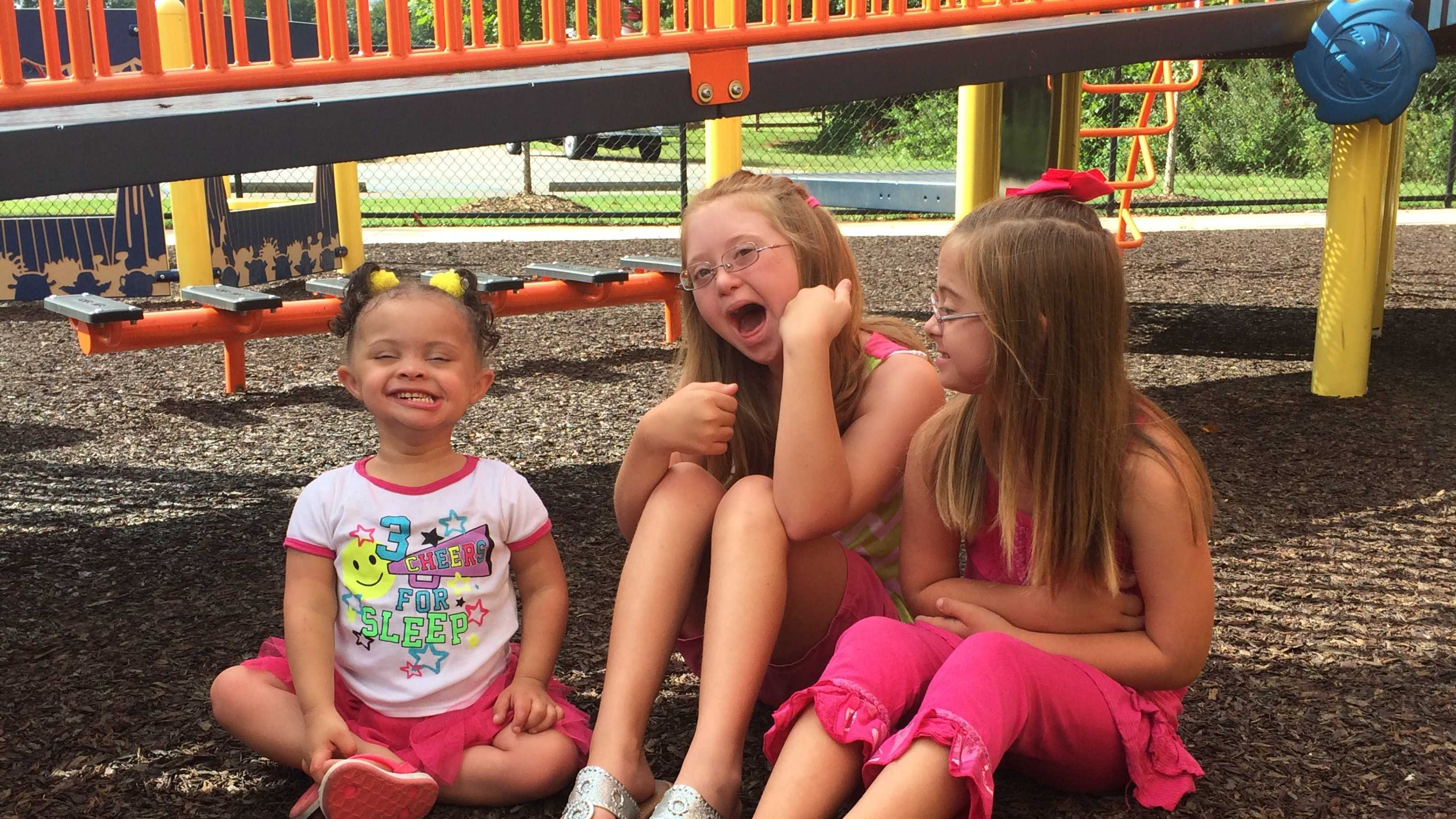 Nevaeh, Madison and Avery will appear in a Times Square video for Down Syndrome awareness