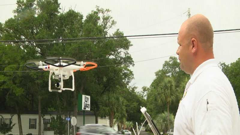 MIGC Captain Jerry Howerton operating drone