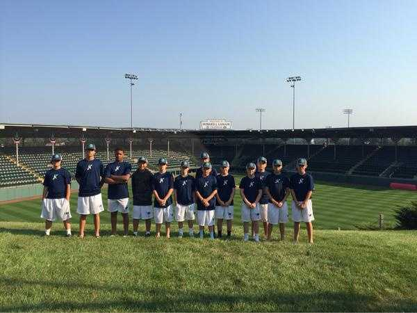 """The team in front of historic Lamade Stadium.""From Northwood Little League Twitter page"