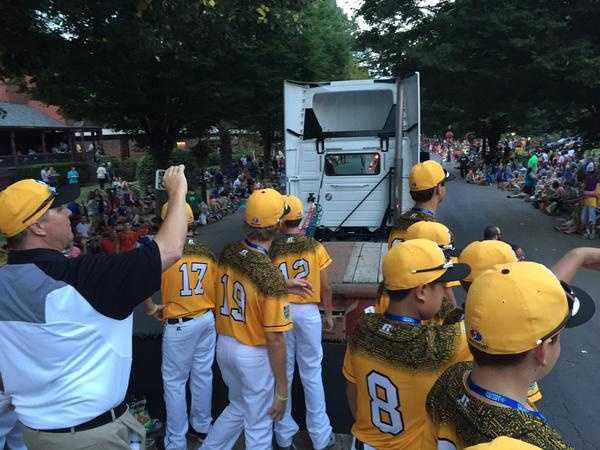 """Insane parade tonight in downtown Williamsport…""  Northwood Little League team's Twitter page"