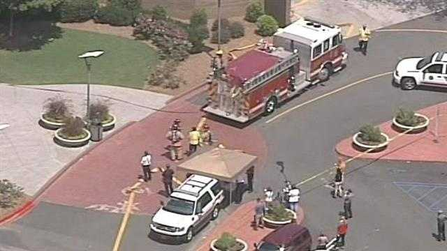 The food court at Haywood Mall has been evacuated after a fire, according to the Greenville Fire Department.