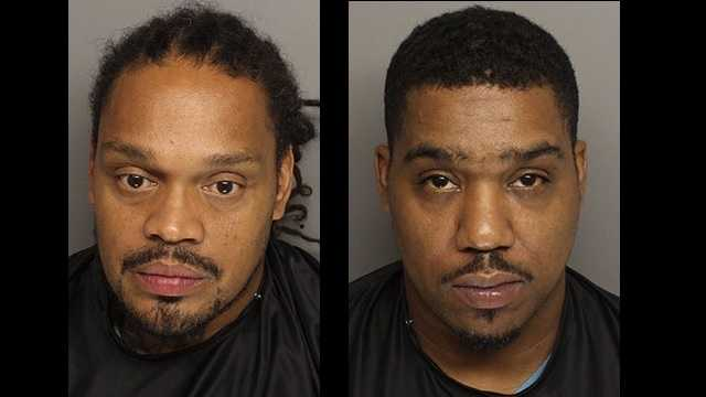 Alvin Randy Chapman and Xavier Johnson: Accused of having illegal poker machines