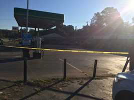 Scene where officials say the chase started