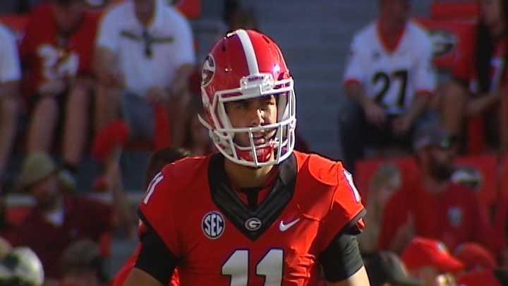 Georgia quarterback Greyson Lambert
