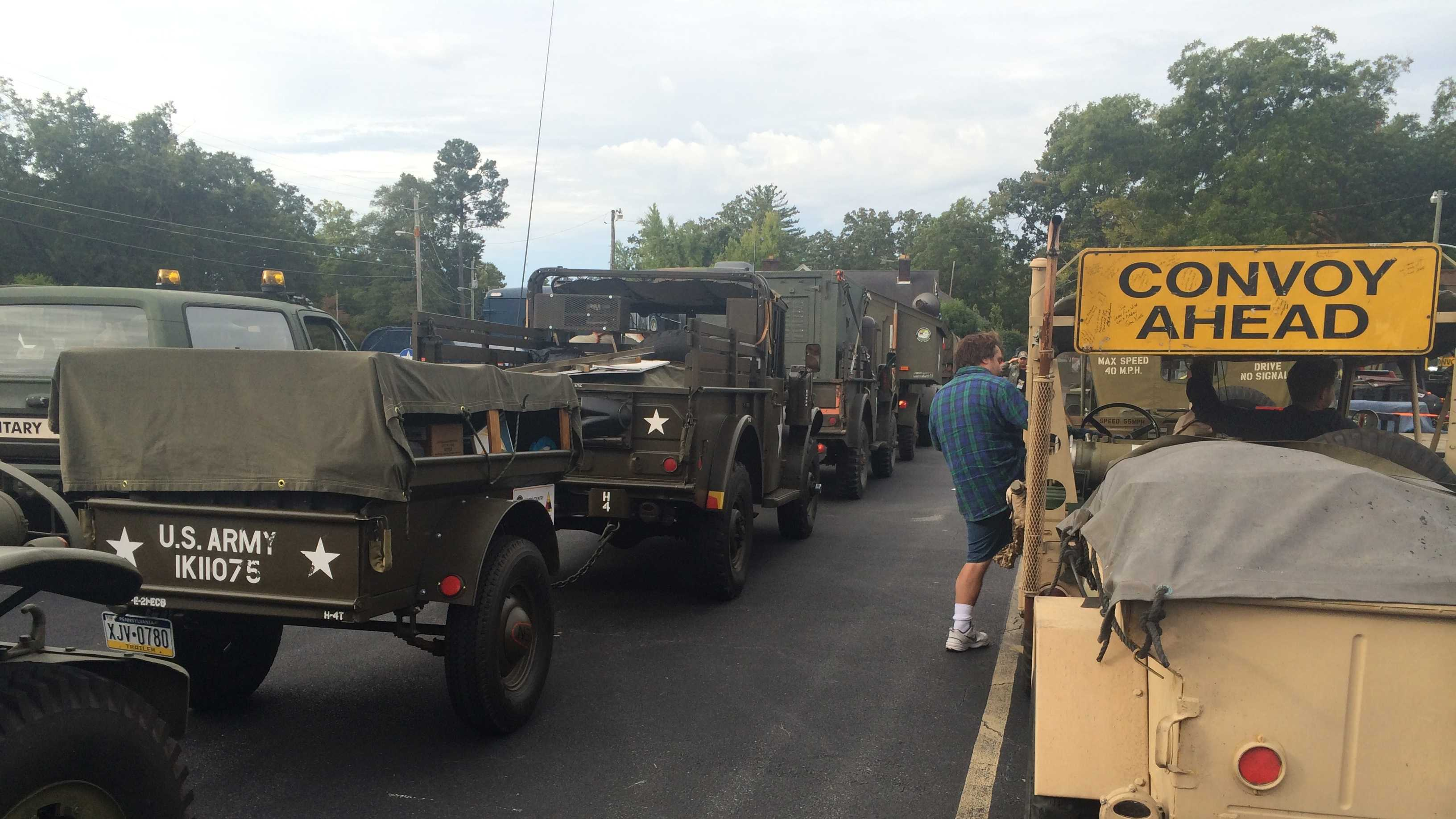 MVPA Convoy prepares to leave Hartwell, GA for next stop