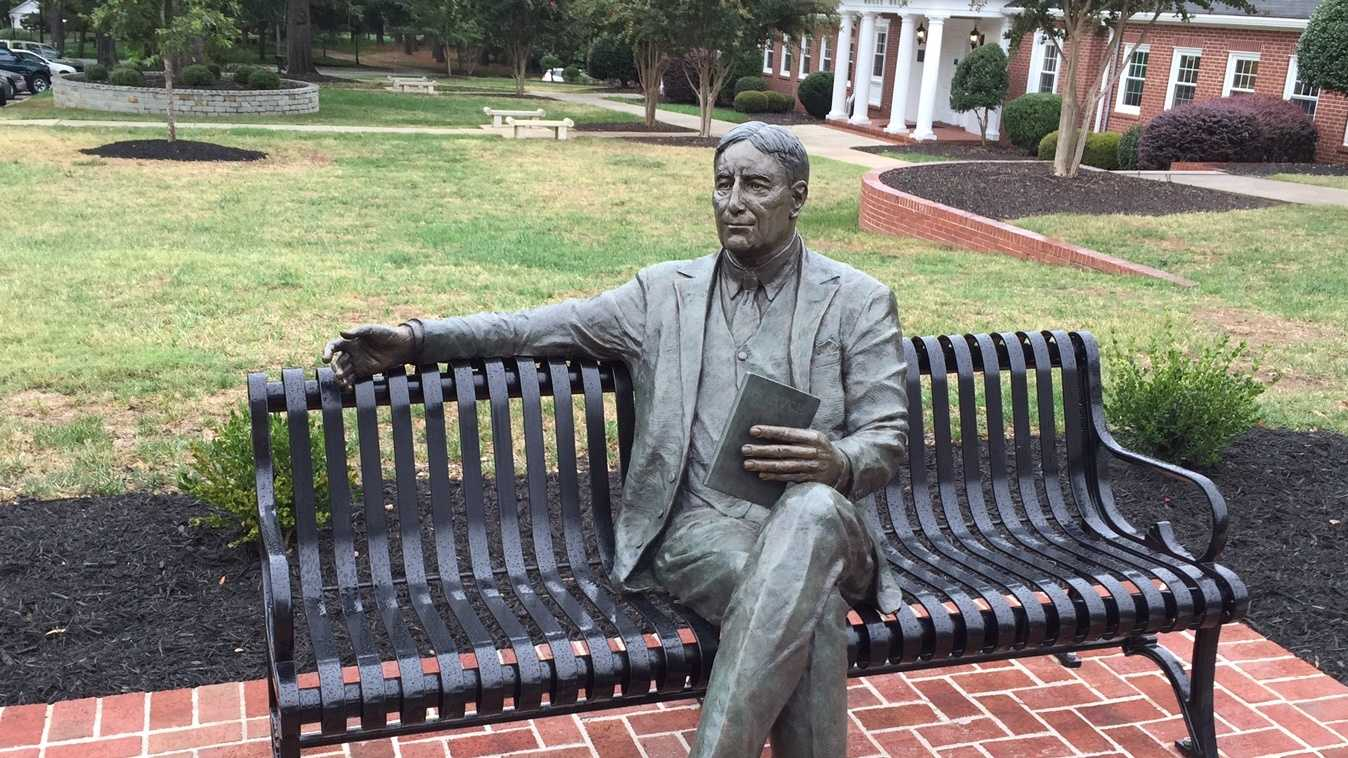 Anderson University sculpture of Bernard Mannes Baruch