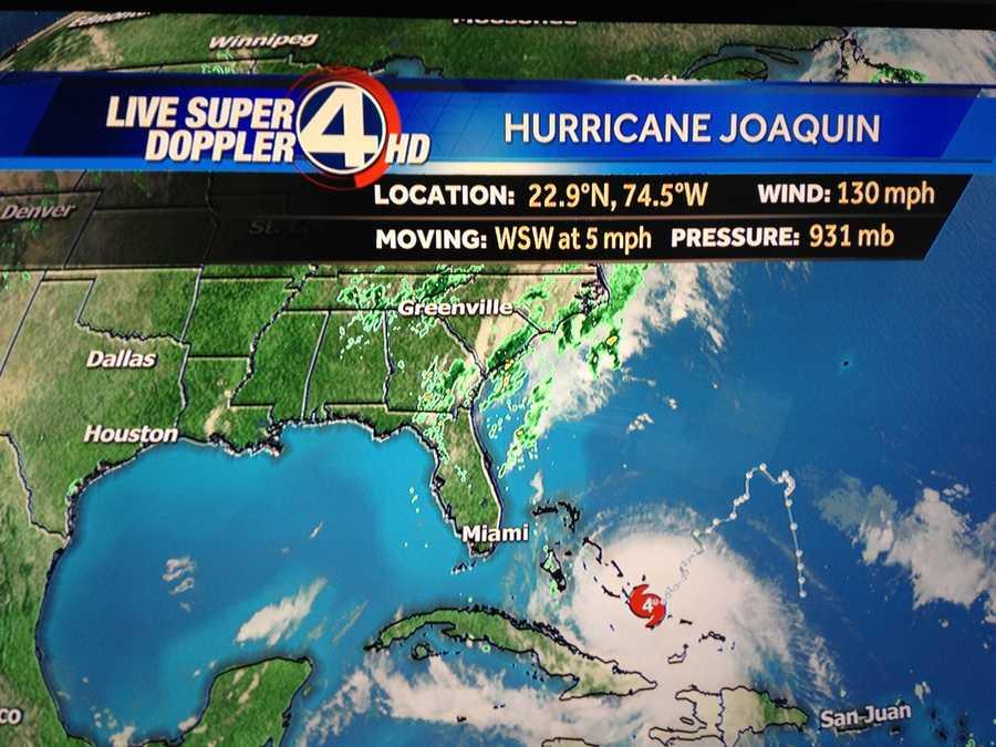 Hurricane Joaquin Thursday, 8 p.m.