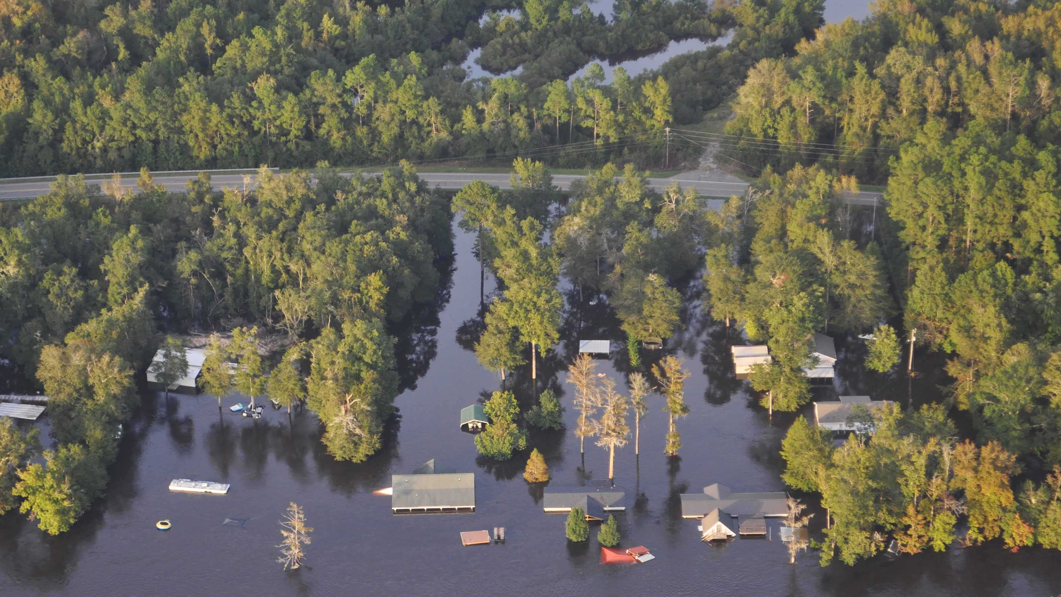 CAP aerial image of flooding in South Carolina.